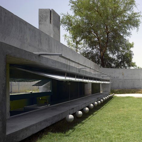 The House With Balls By Matharoo Associates Dezeen - Curtain-door-by-matharoo-associates