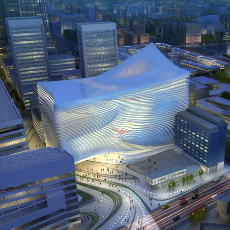 The New Dance and Music Centre in The Hague by Zaha Hadid Architects