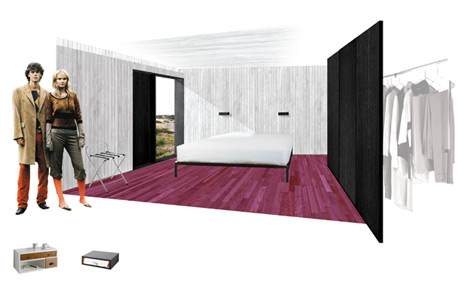 Shingle House by Nord Architecture - ground floor bedroom