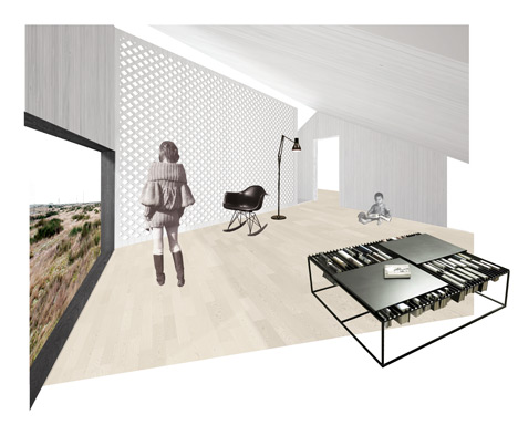 Shingle House by Nord Architecture - mezzanine