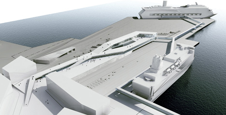 Ferry Terminal Stockholm by CF Moller