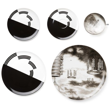 Flying City Tableware by Carsten Höller for Nymphenburg