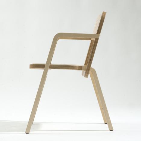 Terrific Prater Chair By Marco Dessi Dezeen Ibusinesslaw Wood Chair Design Ideas Ibusinesslaworg