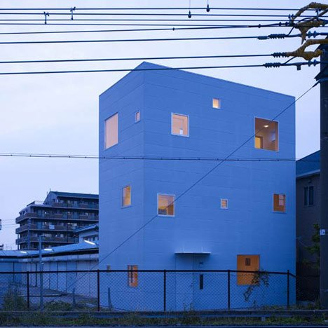 Small House with big Spiral Staircase by Hideshi Abe