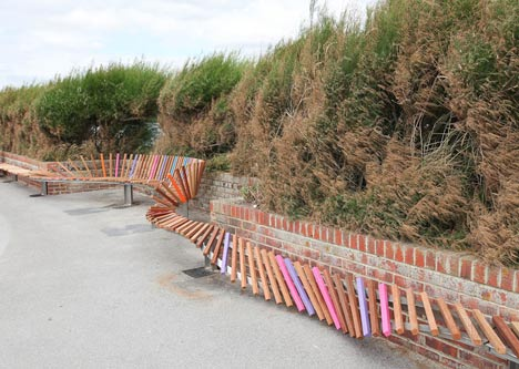 The Longest Bench by Studio Weave
