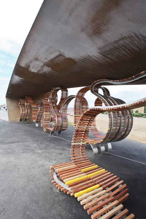 the longest bench by studio weave dezeen