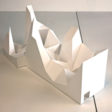 Two models for embassies (retreat I & II) by Anne Holtrop