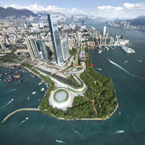 Foster + Partners' masterplan for West Kowloon Cultural District