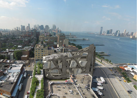 Conceptual extension to Whitney Museum  of American Art by Axis Mundi