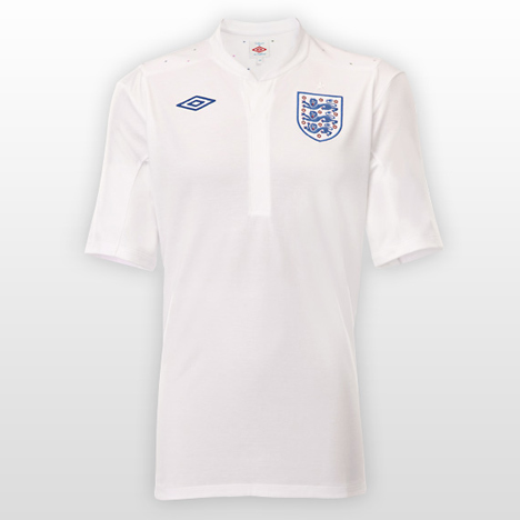 England Home Kit by Peter Saville for Umbro