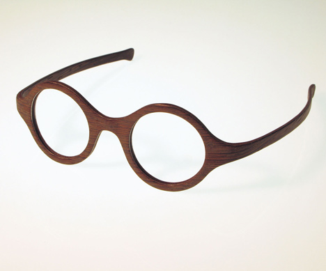 called w eye the reading glasses are made from layers of wood laminated with aluminium - Wooden Glasses Frames