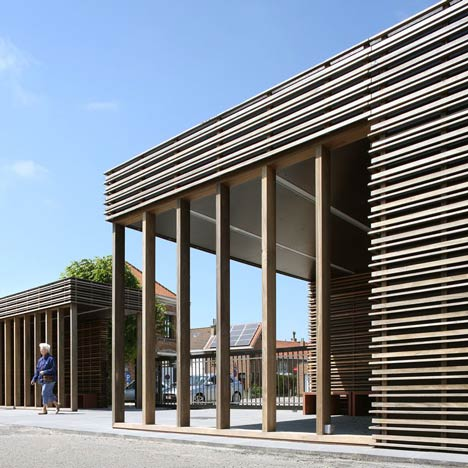 Entrance Pavilion Cemetery Blankenberge by Hansteerds Architectuur