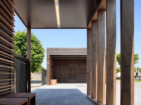 Entrance Pavilion Cemetery Blankenberge by Hansteerds Architectuur