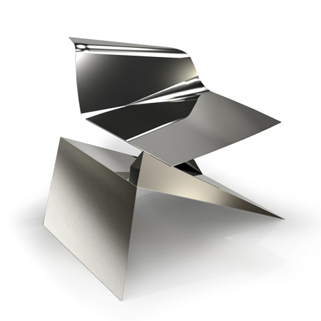 Philip_Michael_Wolfson_Origami_Chair-Stainless_for-The-Apartment-Gallery