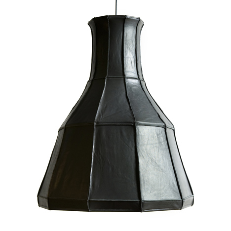 Leather Lampshades by Pepe Heykoop
