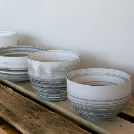 Thermal Till Paper Vessels by Philippe Malouin