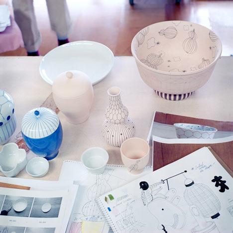 Ceramic tableware by Jaime Hayón