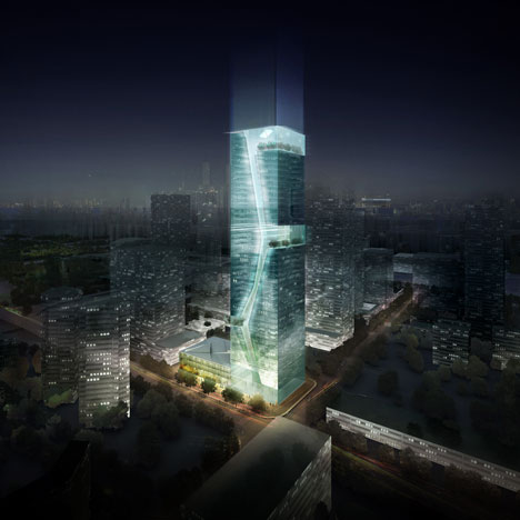 Shenzhen Guosen Securities Tower by Massimiliano and Doriana Fuksas