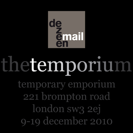 Dezeenmail The Temporium