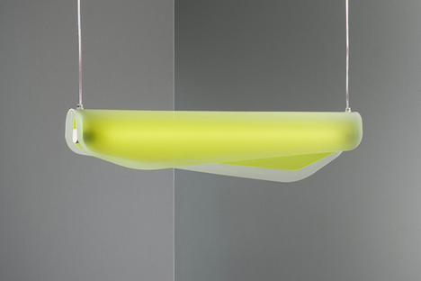 Algae lamp by Christian Vivanco