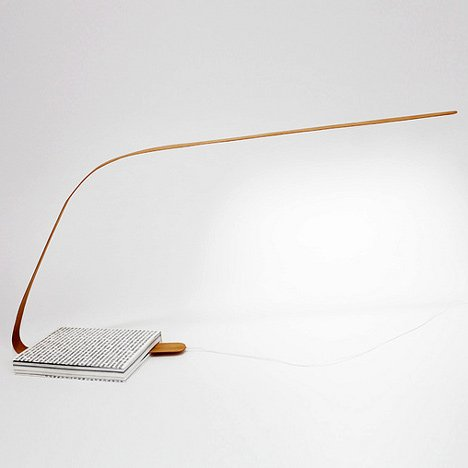 Bookmark lamp by Léonard Kadid