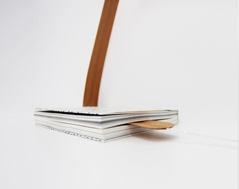 Bookmark lamp by Leonard Kadid