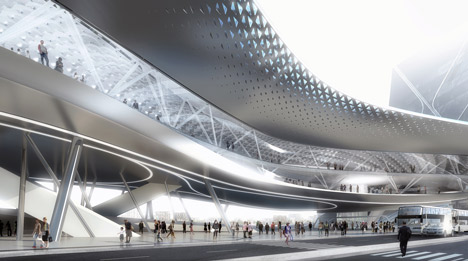 Kaohsiung Port Terminal by Asymptote Architecture
