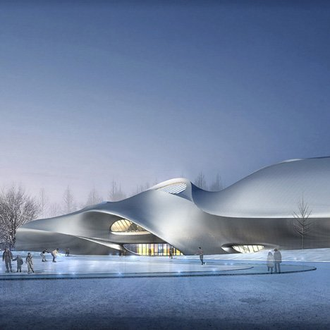 China Wood Sculpture Museum in Harbin by MAD