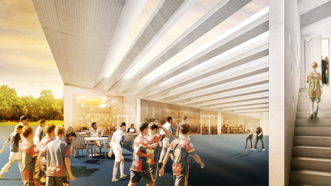 FCB Youngster Campus Basel by Luca Selva Architekten