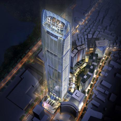 Kingkey Finance tower by Farrells