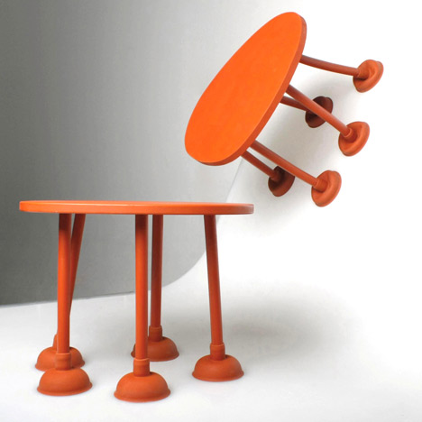Rubber Table by Thomas Schnur