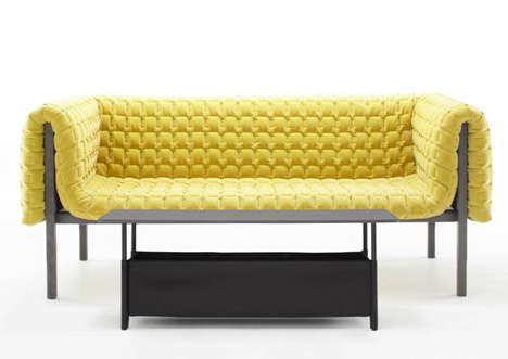 Ruché beds and tables by Inga Sempé for Ligne Roset