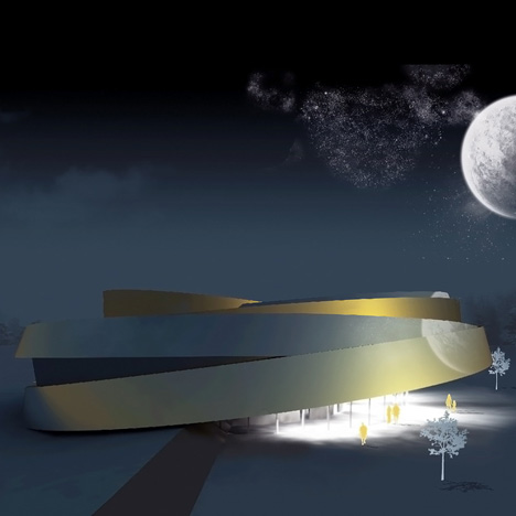 Space Wheel Noordung Space Habitation Centre by OFIS Arhitekti