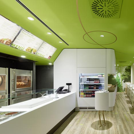 Fast food restaurant architecture dezeen Kitchen design for fast food restaurant