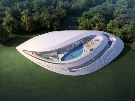 Concept villas for golf and spa resort dubrovnik by zaha for Concept villa