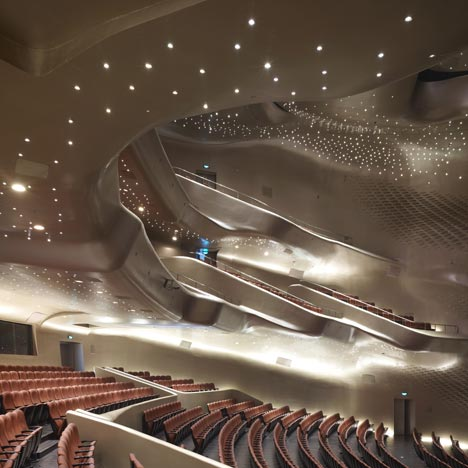 Guangzhou Opera House was Hadid's first major project in China and opened in 2011
