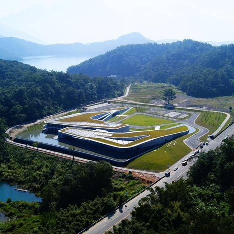 Sun Moon Lake visitor centre by Norihiko Dan and Associates