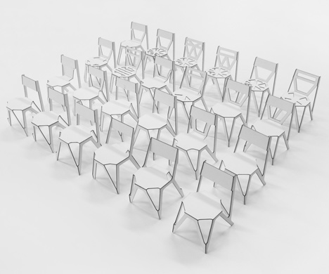 Bone Chair by Julien de Smedt Architects