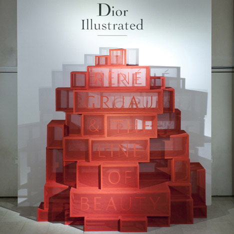 Dior Illustrated by Gitta Gschwendtner at Somerset House