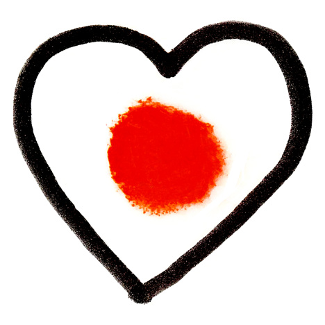 Heart for Japan by Delphine Perrot