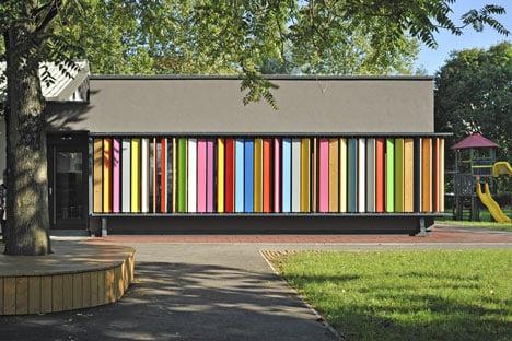 体验作为一种天然材料木木木板和不断改变自己的幼儿园的外观,所有在