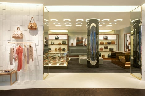 Mulberry Manchester store by Universal Design Studio
