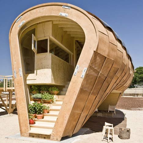 Spanish design in wood dezeen for Cool small homes