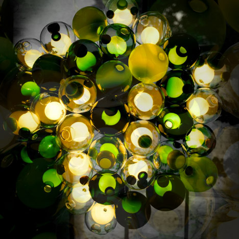 Bocci 28 Series chandelier at Spazio Rosanna Orlandi