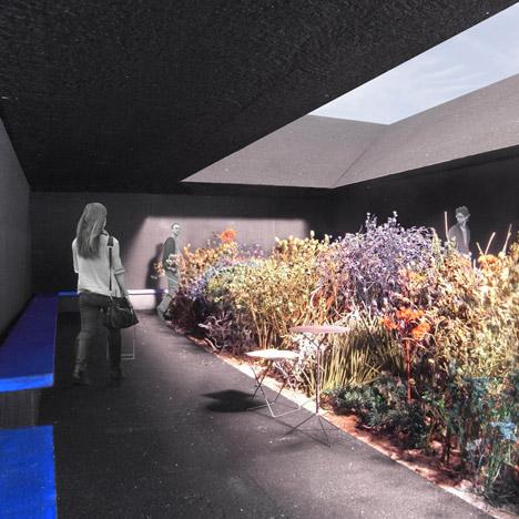 Peter Zumthor Serpentine Gallery Pavilion 2011 Dezeen - central garden space