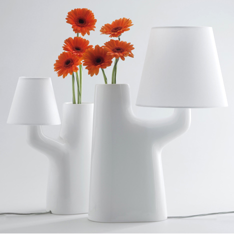 Touch Lamp Vase by Ro