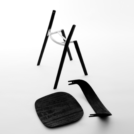 Baguette chair by Ronan and Erwan Bouroullec for Magis