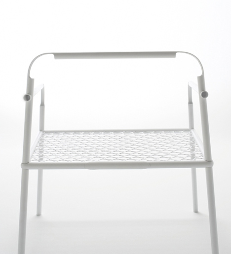 Bamboo-steel chair by Nendo for Yii