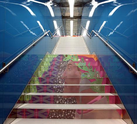 Naples Metro Station by Karim Rashid