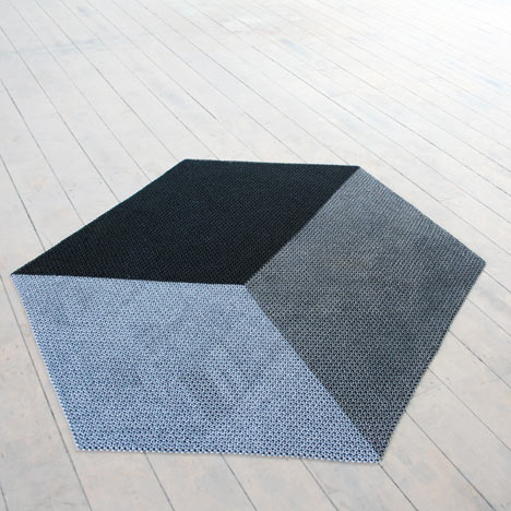 The Yachiyo metal rug by Philippe Malouin